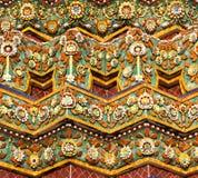 bangkok stupa belade med tegel thailand Arkivfoto
