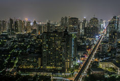 Bangkok sukhumvit road twilight Royalty Free Stock Images