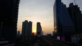 Bangkok Sunset. Sun goes down in Bangkok Stock Photo