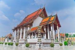 bangkok suthattempel thailand Royaltyfri Fotografi