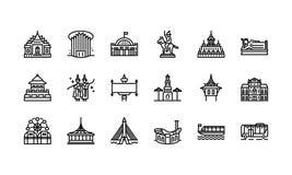 Bangkok symbols and landmarks icon set 2 Stock Photography