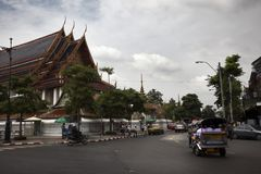Bangkok street close to Royal Palace Stock Photography