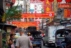 Bangkok, Tailandia: Camino de Yaowarat en Chinatown Imágenes de archivo libres de regalías