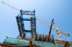 Bangkok, Tailandia: Construcción ferroviaria Imagen de archivo