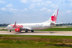 Bangkok, Tailandia - 13 de abril de 2017: Boeing 737-800 Lion Air tailandés Imagen de archivo