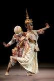 BANGKOK TAILANDIA - 7 DE AGOSTO: Fis de Hanuman y de la señora Imagen de archivo libre de regalías