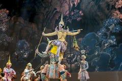 bangkok Tailandia - 13 de diciembre de 2015, Khon es drama de la danza de Tailandia Imagen de archivo libre de regalías