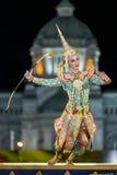 bangkok Tailandia - 13 de diciembre de 2015, Khon es drama de la danza de Tha Foto de archivo