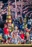 bangkok Tailandia - 13 de diciembre de 2015, Khon es drama de la danza de Tha Fotografía de archivo