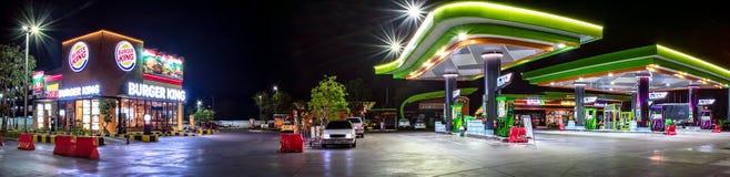 BANGKOK, TAILANDIA - 19 DE DICIEMBRE: Restaurante de los alimentos de preparación rápida, hamburguesa Ki Imagenes de archivo