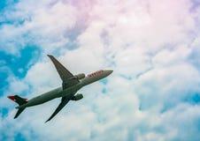 BANGKOK, TAILANDIA 27 DE ENERO DE 2018: Línea aérea internacional suiza fotografía de archivo