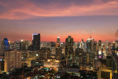 BANGKOK, TAILANDIA - 7 DE FEBRERO DE 2017: Duri del paisaje urbano de Bangkok CBD Fotos de archivo