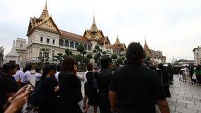 Bangkok, Tailandia 2 de febrero de 2017: Una ceremonia de despedida al rey querido El rey de Tailandia Bhumibol Adulyadej Rama almacen de video