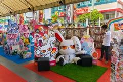 Cabina sangrienta del conejito en el festival 2013 del animado de Tailandés-Japón Foto de archivo libre de regalías