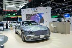 Bangkok, Tailandia - 30 de noviembre de 2018: Demostración de coche de Bentley en la EXPO internacional 2018 del MOTOR de la expo fotografía de archivo libre de regalías