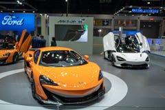 Bangkok, Tailandia - 30 de noviembre de 2018: Demostración de coche de PORSCHE en la EXPO internacional 2018 del MOTOR de la expo imagen de archivo libre de regalías