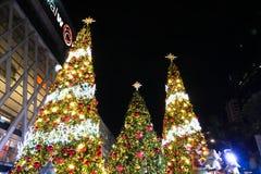 BANGKOK, TAILANDIA - 21 DE NOVIEMBRE DE 2017: Feliz Navidad y feliz Fotografía de archivo libre de regalías