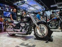 Bangkok, Tailandia - 30 de noviembre de 2018: Harley-Davidson Motorcycle y accesorio en el MOTOR internacional de la expo 2018 de foto de archivo