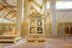 Bangkok, Tailandia - 10 de noviembre de 2017: La exposición real del crematorio de rey Bhumibol Adulyadej en SanamLuang Imagenes de archivo