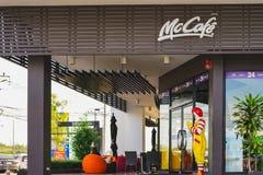 BANGKOK, TAILANDIA - 19 DE NOVIEMBRE DE 2017: ronald-mcdonald en McCafe Imagenes de archivo