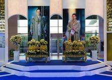 Bangkok, TAILANDIA - 24 de septiembre de 2017: Imagen de rey Bhumibo Fotos de archivo libres de regalías