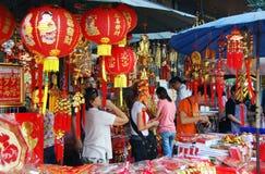 Bangkok, Tailandia: Decoraciones chinas del Año Nuevo Fotos de archivo
