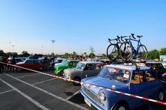 Bangkok, Tailandia - 20 dicembre 2014: Molto Austin Mini Cooper classico a Mini Mountain Festival di mini colpo del club della fa Fotografia Stock