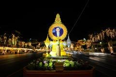BANGKOK, TAILANDIA - DICIEMBRE 27,2015: Colorido de la lámpara fastival Imagen de archivo libre de regalías