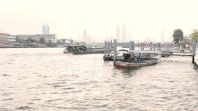 Bangkok, Tailandia, fiume, città archivi video
