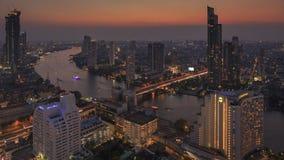 BANGKOK, TAILANDIA - 20 GENNAIO 2018: Vista dello scape della città dal lebua alla torre dello stato fotografia stock