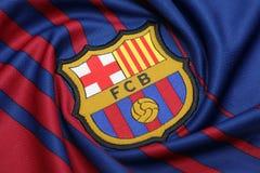 BANGKOK, TAILANDIA - 26 GIUGNO: : il logo del Cl di calcio di Barcellona Immagini Stock Libere da Diritti