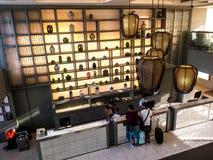 BANGKOK, TAILANDIA - 13 giugno 2017: Ricezione della stazione centrale principale Bangkok dell'hotel immagini stock libere da diritti