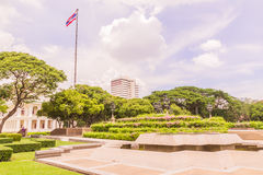Bangkok, Tailandia - 5 giugno 2016: Statua di re Chulalongkorn e di re Vajiravudth (Rama V e VI) Fotografia Stock