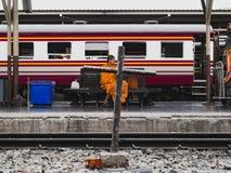 BANGKOK TAILANDIA - 7 GIUGNO 2019, stazione ferroviaria Hua Lamphong immagini stock libere da diritti