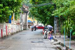 Bangkok, Tailandia - 16 giugno 2018: Un'atmosfera vivace di backst fotografia stock