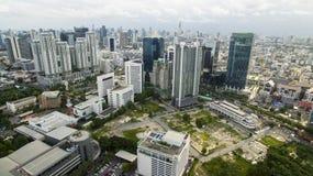 BANGKOK TAILANDIA - GIUGNO 6,2017: vista aerea di alta configurazione moderna Immagini Stock Libere da Diritti