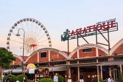 BANGKOK TAILANDIA, IL 10 FEBBRAIO: ASIATIQUE la fabbrica di lungofiume Immagini Stock