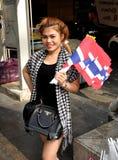 Bangkok, Tailandia: La operación cerró al vendedor de la bandera de Bangkok Fotografía de archivo libre de regalías