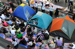 Bangkok, Tailandia: La operación cerró a los Protestors de Bangkok Foto de archivo