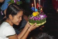 Bangkok, Tailandia, Loi Krathong imagen de archivo libre de regalías
