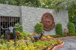 BANGKOK, TAILANDIA - 21 luglio 2015: Zoo di Dusit Lo zoo di Dusit era Thail Immagini Stock Libere da Diritti