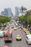 Bangkok Tailandia - 7 maggio 2016: Ingorgo stradale su chatuchak Fotografie Stock Libere da Diritti