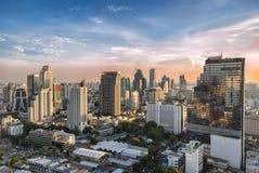 Bangkok Tailandia - 18 maggio 2016: Paesaggio urbano di Bangkok, distretto di Rak di colpo, uno del distretto aziendale più occup Fotografie Stock Libere da Diritti