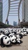 Bangkok, Tailandia - 8 marzo 2016: Giro del mondo di 1600 panda in Th Fotografie Stock