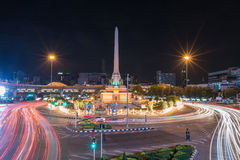 BANGKOK, TAILANDIA: Monumento di vittoria a Bangkok centrale il 2 agosto 2014 a Bangkok Immagine Stock