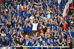 BANGKOK TAILANDIA NOV12: 2015 fans no identificadas de ayuda de Tailandia Foto de archivo