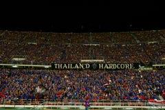 BANGKOK TAILANDIA NOV12: 2015 fans no identificadas de ayuda de Tailandia Fotos de archivo