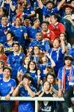 BANGKOK TAILANDIA NOV12: 2015 fans no identificadas de Tailandia Imágenes de archivo libres de regalías