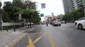 Bangkok, Tailandia - November28 2018: Il giro ad urbano ha molti lasso di tempo dell'automobile archivi video