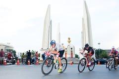 BANGKOK TAILANDIA - 7 novembre Corporate Singha Corporation Crei la nuova storia per la due-ruota Tailandia La corsa penultima CY Fotografia Stock Libera da Diritti